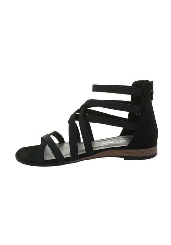 Neckermann Dames flash sandalen zwart 7176