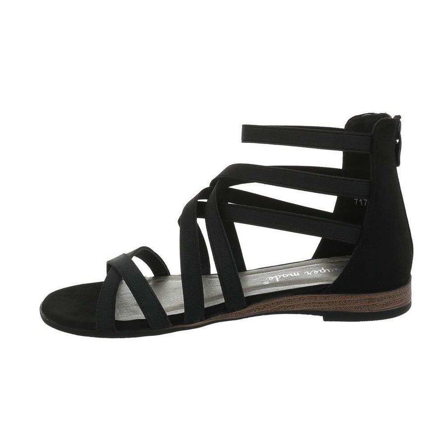 Dames flash sandalen zwart 7176