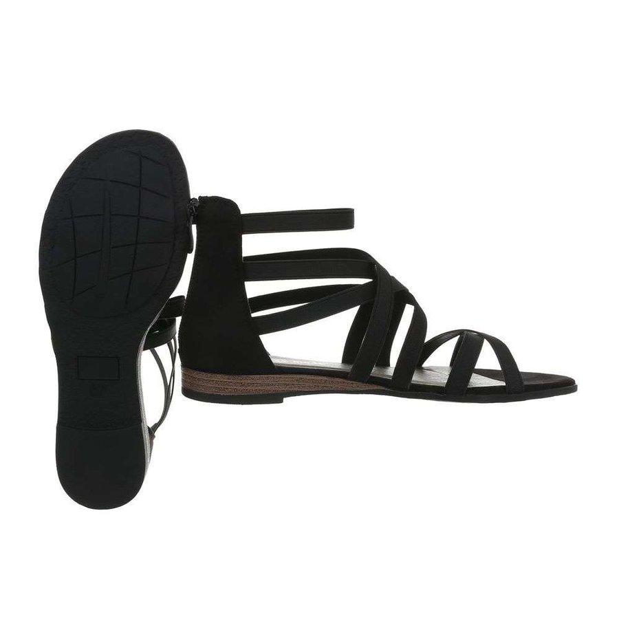 Damen Flash Sandalen schwarz 7176