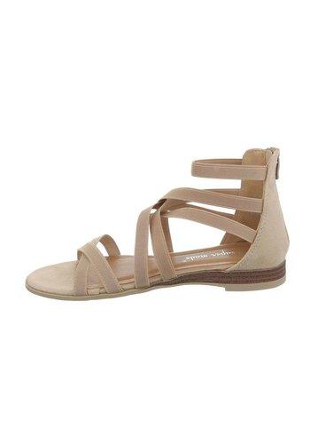 Neckermann dames flash sandalen beige 7176