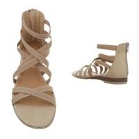 dames flash sandalen beige 7176