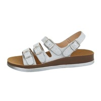damen flash sandalen silber 6864