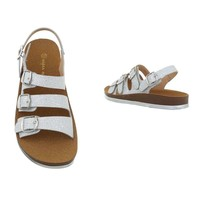dames flash sandalen zilver 6864