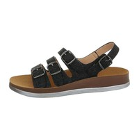 damen flash sandalen silber 6864