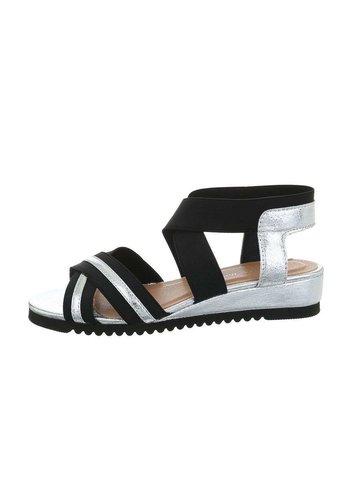 Neckermann dames flash sandalen zilver 6580