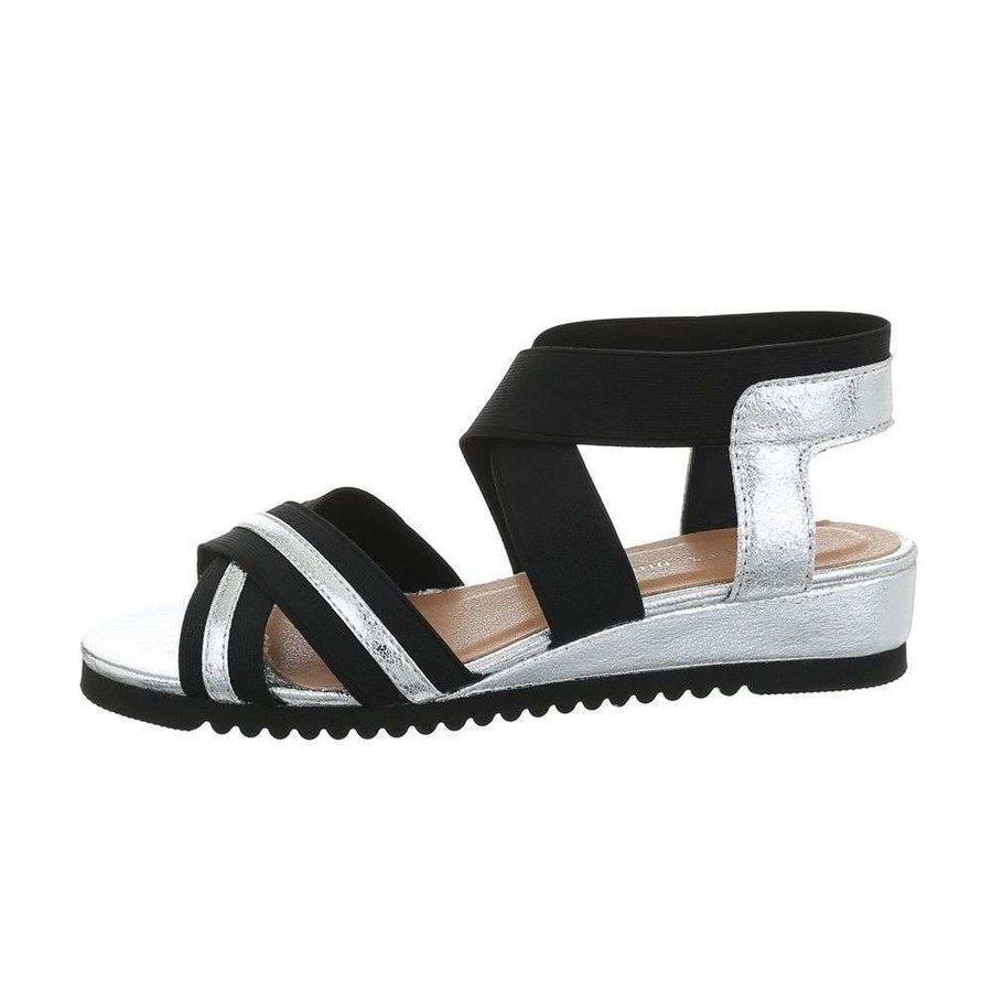 damen flash sandalen silber 6580
