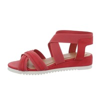 Damen Flash Sandalen rot 6580
