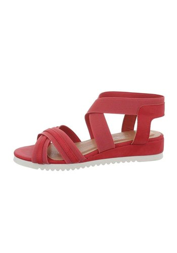 Neckermann Dames flash sandalen rood 6580