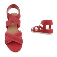 Dames flash sandalen rood 6580