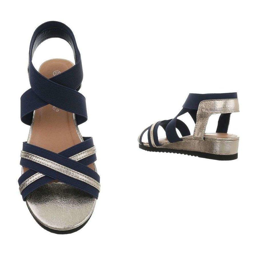 dames flash sandalen goud 6580
