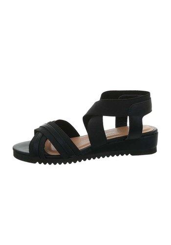 Neckermann dames flash sandalen zwart 6580