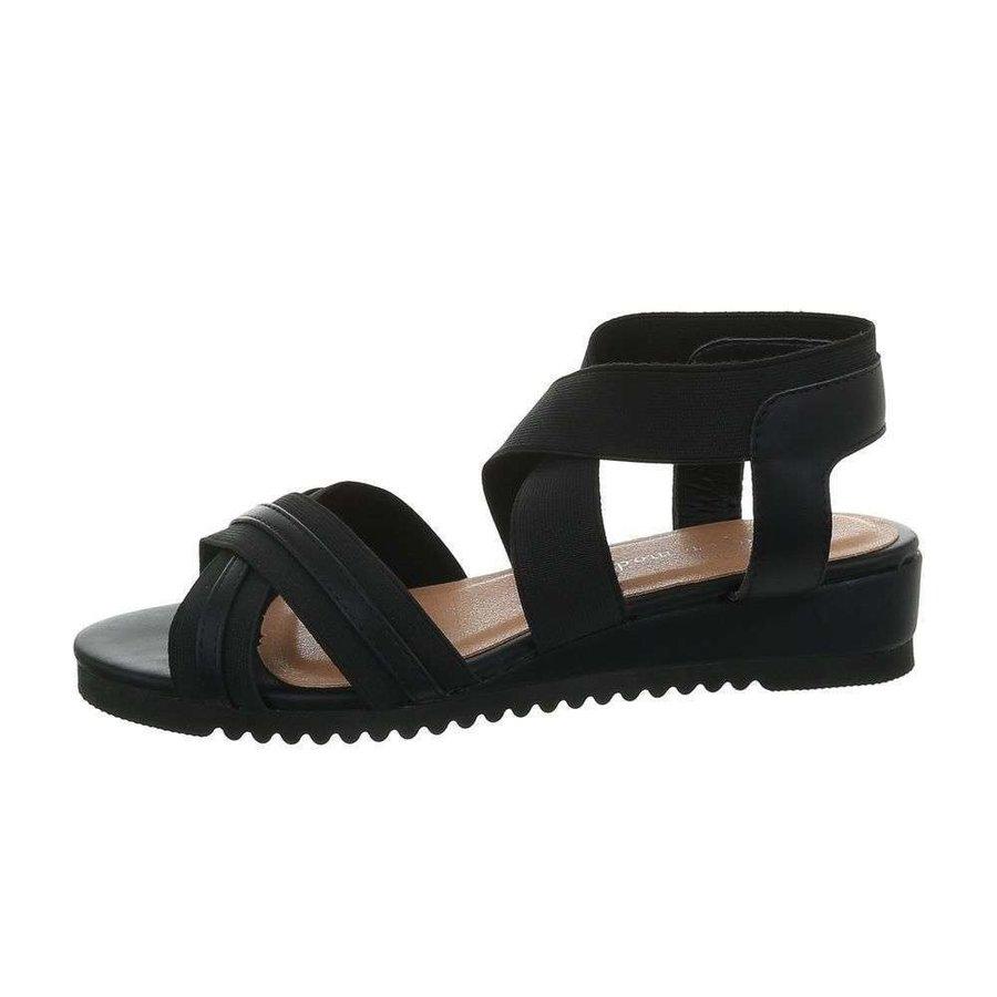 Damen Flash Sandalen schwarz 6580