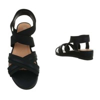 dames flash sandalen zwart 6580