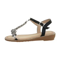 Dames flash sandalen zwart 6216