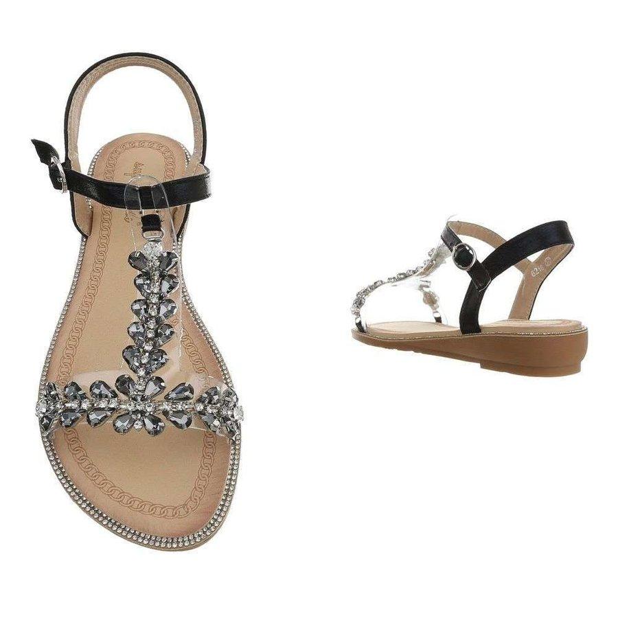 Sandales flash femme noires 6216