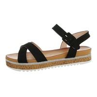 Dames flash sandalen zwart 7095