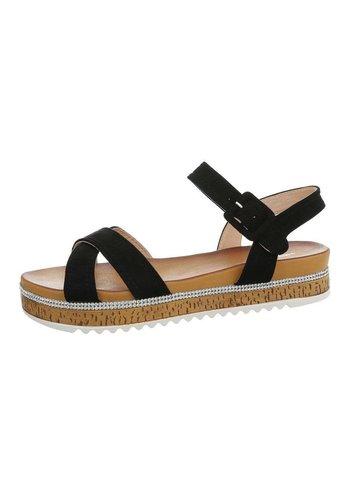 Neckermann Dames flash sandalen zwart 7095