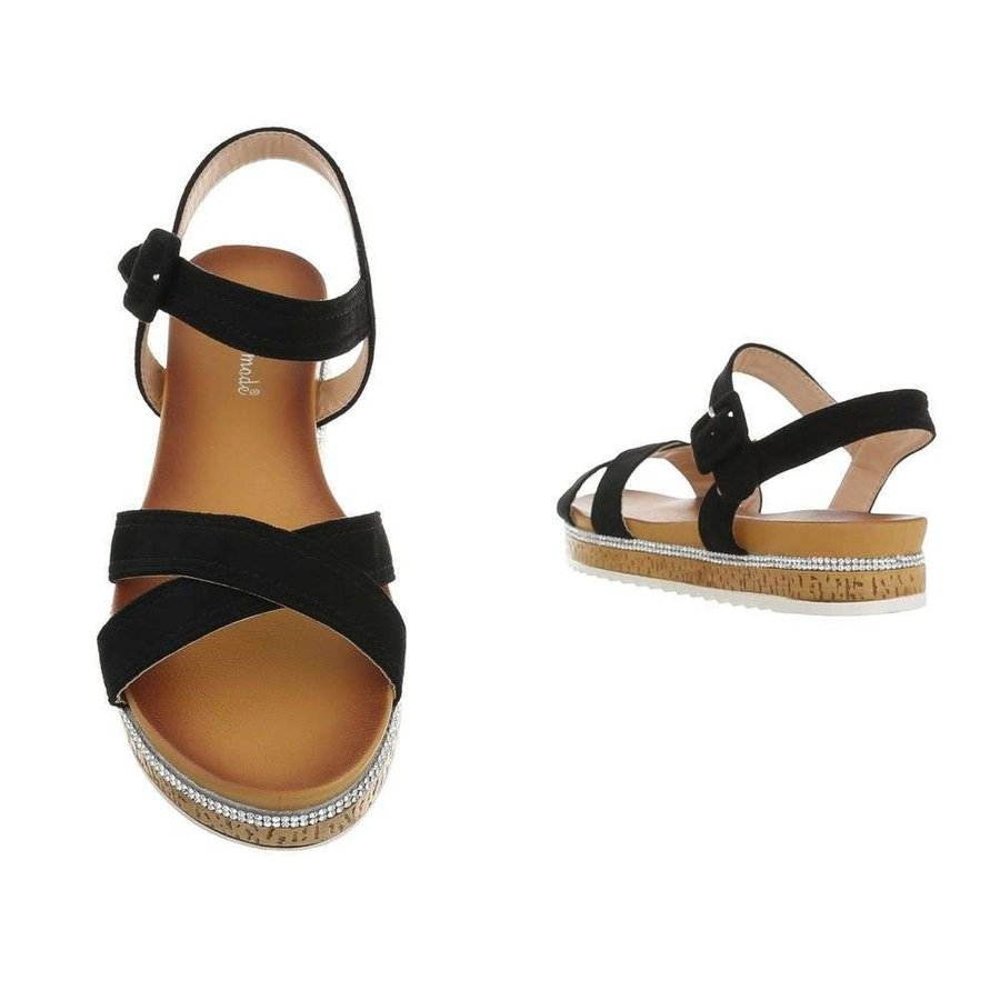 Damen Flash Sandalen schwarz 7095