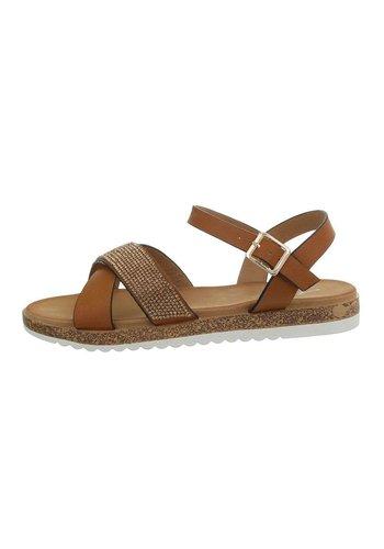 Neckermann Dames flash sandalen camel D-116