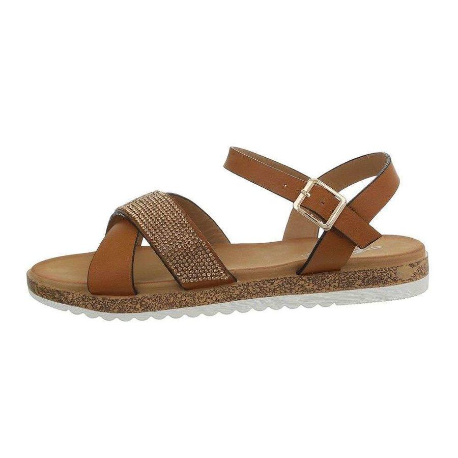 Sandales flash femme camel D-116
