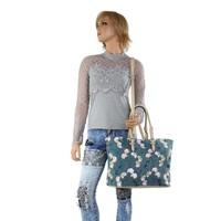 Sac shopping pour femme beige TA-1135-56