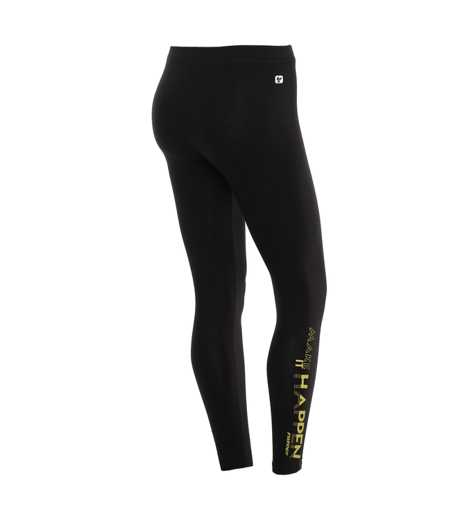 Super Fit ANKLE-LENGTH LEGGINGS WITH A YELLOW PRINT ON THE LEG BOTTOM