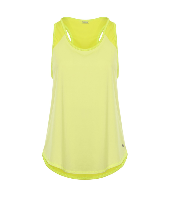 TOP TANK TOP WITH CONTRAST FABRIC IN AN ON-TONE HUE