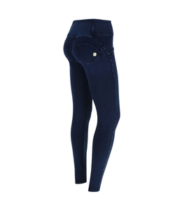 WR.UP® WR.UP® MID-RISE SKINNY-FIT BLACK PANTS IN STRETCH DENIM