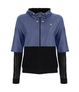 Jacket JERSEY HOODIE WITH 3/4 SLEEVES - 100% MADE IN ITALY