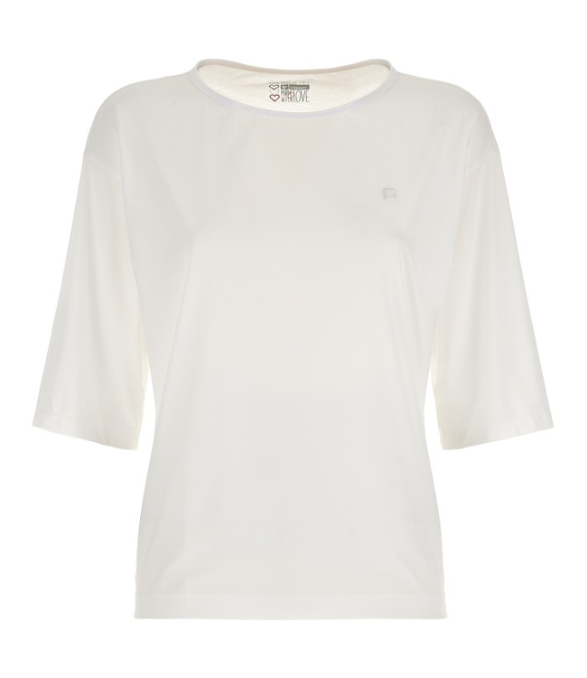 T-Shirt DOUBLE-LAYER T-SHIRT WITH 3/4 SLEEVES - 100% MADE IN ITALY