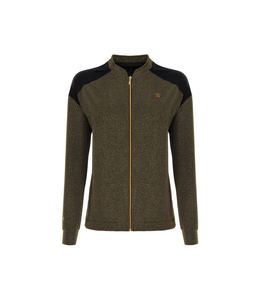 Jacket SWEATSHIRT WITH ZIP IN GOLD LUREX — 100% MADE IN ITALY COLLECTION