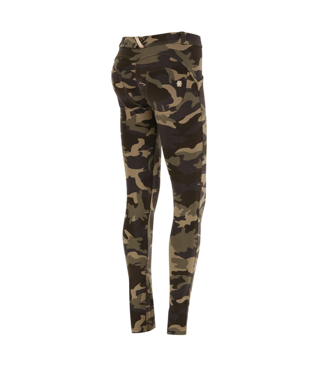 WR.UP® CAMOUFLAGE WR.UP® MID-RISE-RISE SUPER SKINNY TROUSERS