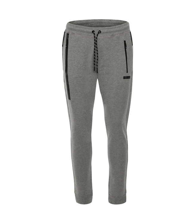 Sweatpants TAPERED MELANGE FRENCH TERRY TROUSERS WITH AN INSERT ON THE YOKE
