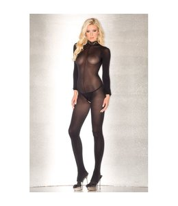 Be Wicked Open Catsuit Met Lange Mouwen