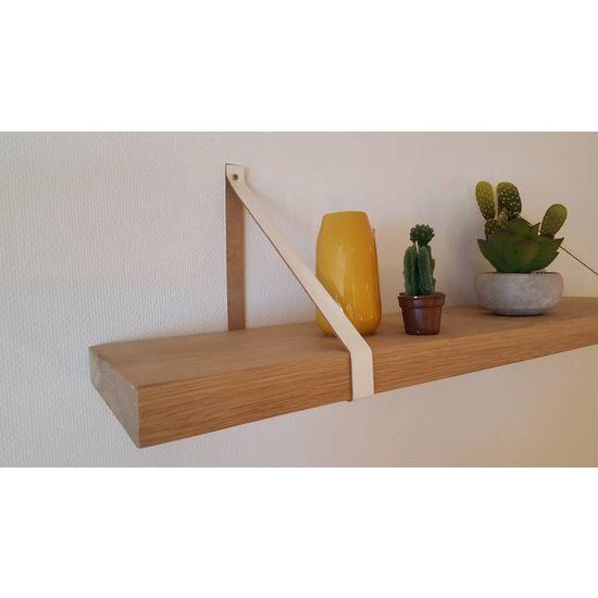 Leren plankdrager Wit