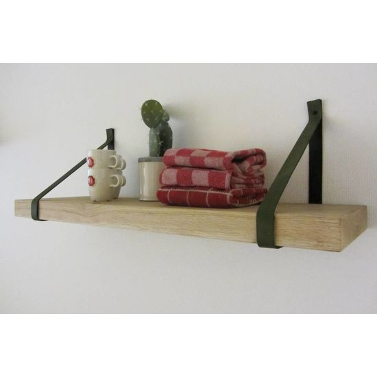 Lederen plankdrager Kaki groen