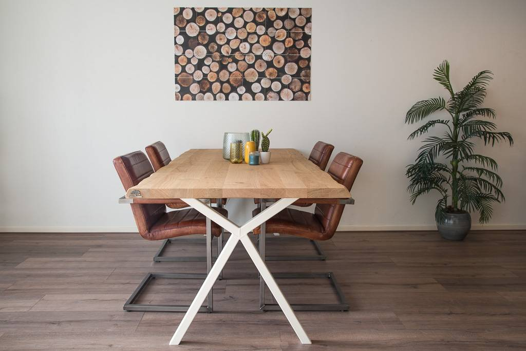 Industriele Tafel Goedkoop : Goedkope industriele tafel boomstam tafels