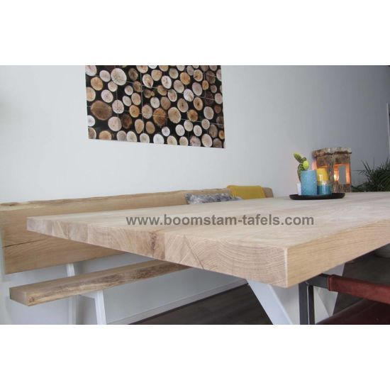 Eiken tafelblad 280x100 (rechte rand)