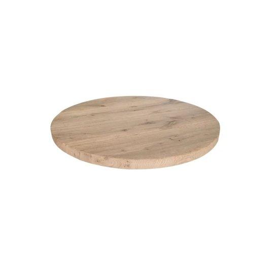 Rond eikenblad 100cm