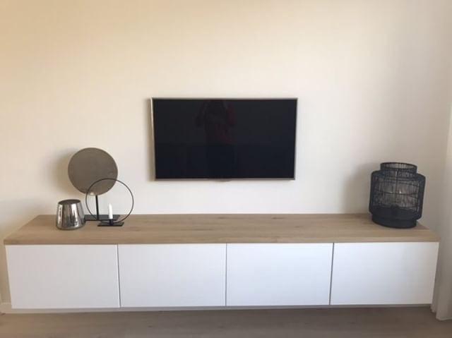 Besta Tv Meubel Eikenhouten Plank Boomstam Tafels