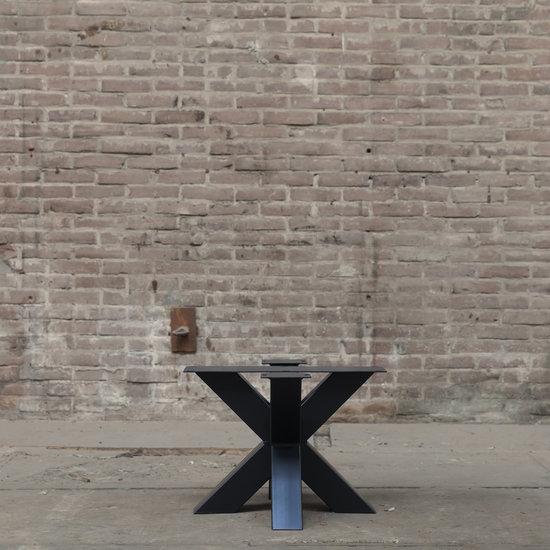 dubbele kruispoot salon 8 x 8 zwart
