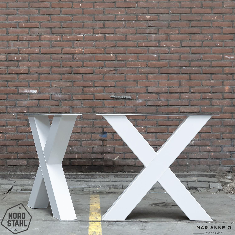 X tafelpoot zwaar WIT