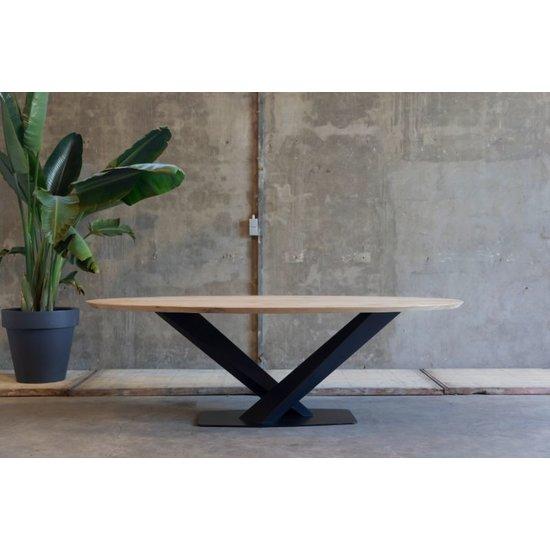 Ovale tafel 'Tijgervink'