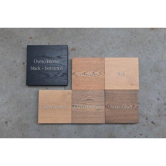Trones schoenenkast eikenhouten plank