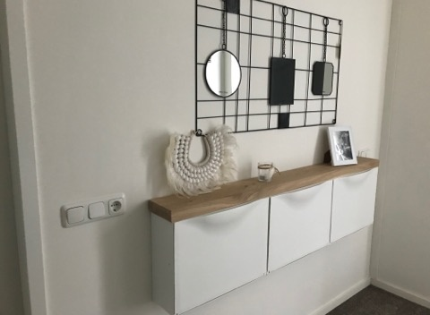 Beton Tafels Trones plank IKEA hack