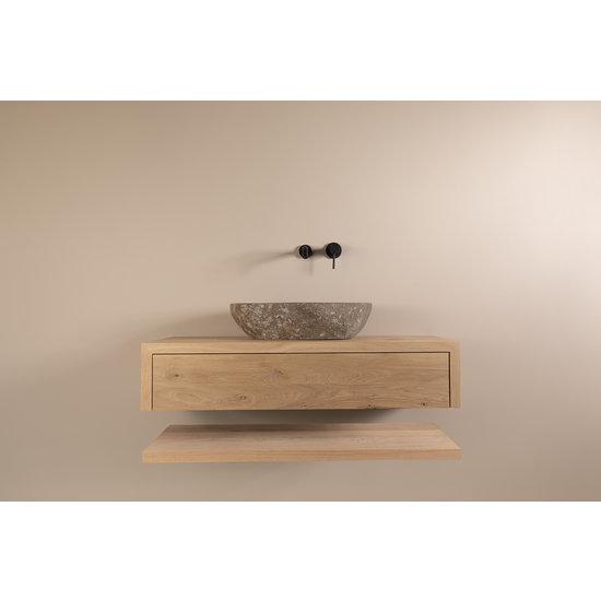 Massief eiken badkamermeubel met lade