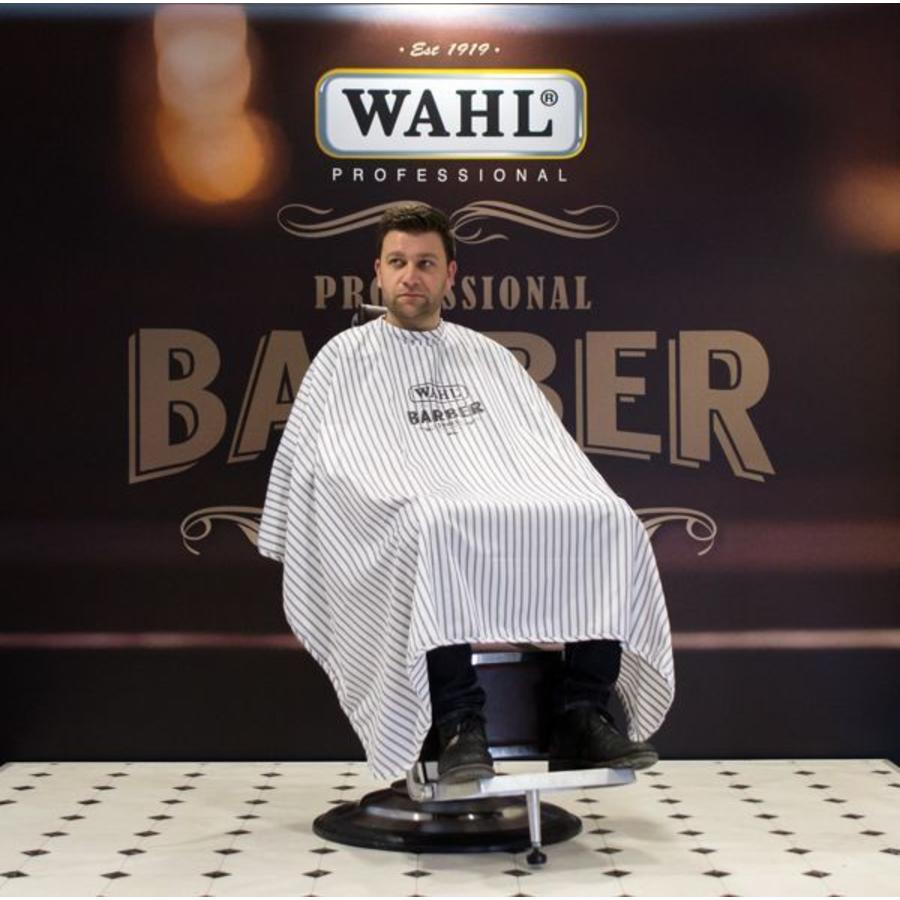 Wahl Barber Cape Pinstripes Cutting Gown