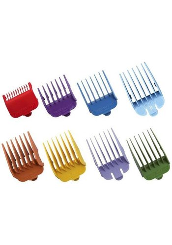 WAHL Attachment Combs Set Type 1 - Plastic Coloured #1-8