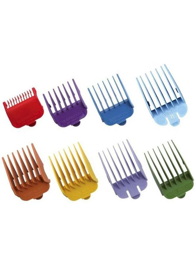 Wahl Opzetkamset Type 1 - Plastic Gekleurd #1-8