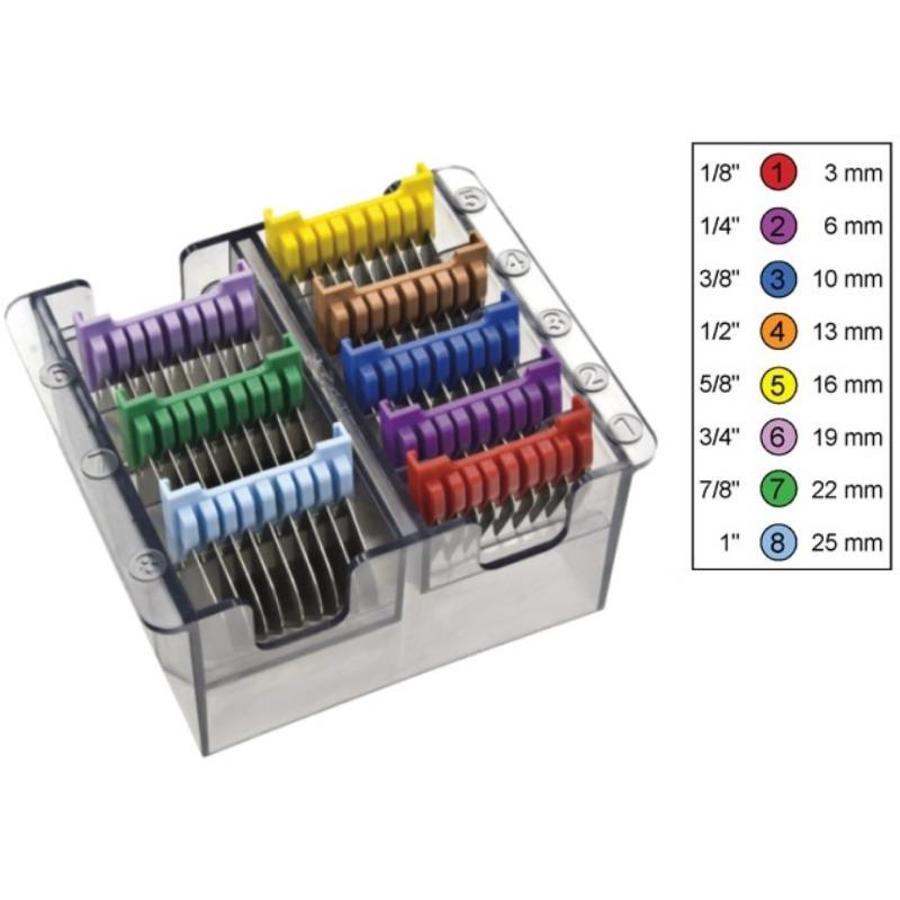 Wahl Aufsteckkämme Satz Typ 19 - Metallklinge # 1-8